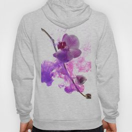 Abstract pink orchid Hoody