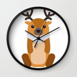 Reindeer Christmas Wall Clock