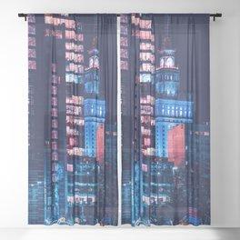 Warszawa Polska Sheer Curtain