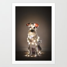HOLIDAY DOG Art Print