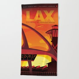 Los Angeles International Airport, LAX California Beach Towel