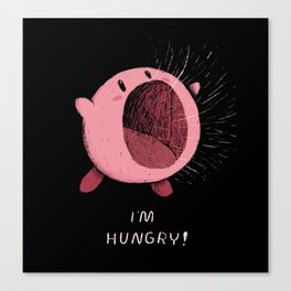 im hungry Canvas Print