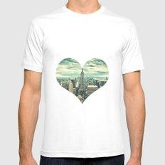 new york city panoramic view skyline White Mens Fitted Tee MEDIUM