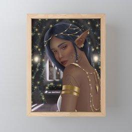 Elf Girl- Fairy Lights Framed Mini Art Print