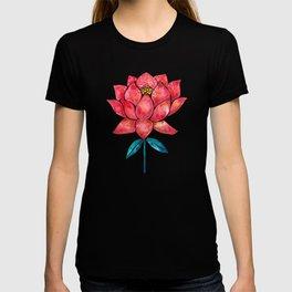 Sacred Lotus – Red Blossom T-shirt
