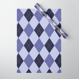 Blue Argyle Pattern Wrapping Paper