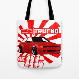TOYOTA AE86 TRUENO DRIFTER Tote Bag