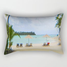 A Dreamy Day at a Tahitian Beach, Bora Bora Rectangular Pillow