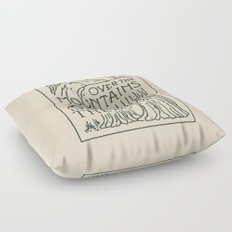 Over The Mountains Floor Pillow
