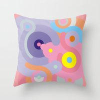 baroque Throw Pillows featuring Modern Baroque by Stop::mashina ~SharenBob