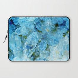 Blue Crystal Geode Art Laptop Sleeve