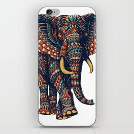 Ornate Elephant v2 (Color Version) iPhone Skin