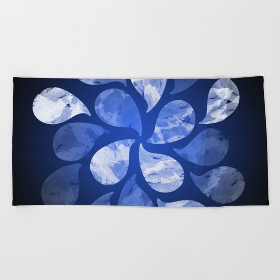 Abstract Water Drops XX Beach Towel