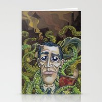 lovecraft Stationery Cards featuring H.P. Lovecraft by Pajamarai Illustrations