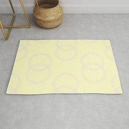 Simply Infinity Link Pink Flamingo on Pale Yellow Rug