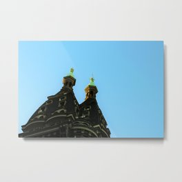 Castle in the city Metal Print