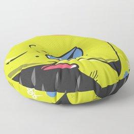 Vamp girl face Floor Pillow