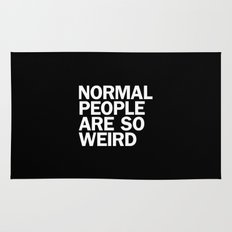 NORMAL PEOPLE ARE SO WEIRD Rug