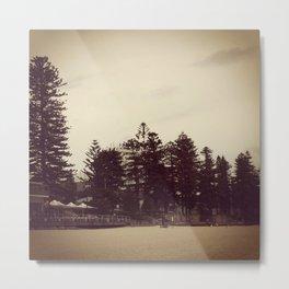 Beach Trees Metal Print