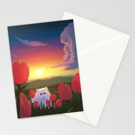 Cat and Sunset Stationery Cards
