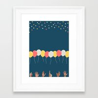 baloon Framed Art Prints featuring Baloon by ARIS8