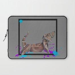 Paper Wiener Dog- Wild World Of Paper Series Laptop Sleeve