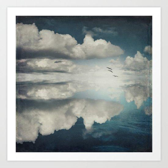 Spaces II - Sea of Clouds Art Print