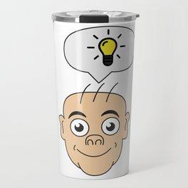 Problem Solving or Brainstorming Tshirt Design Bright idea Travel Mug