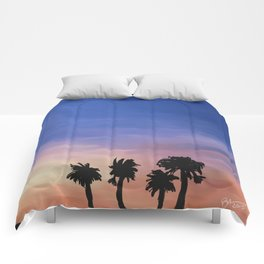 Sunset Trees Comforters