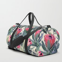 Painted Protea Pattern Duffle Bag