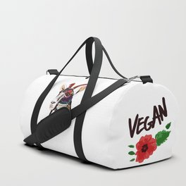 Go vegan goat - my body is mine to live in Duffle Bag