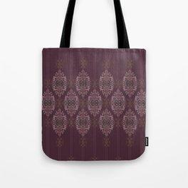 Vintage Burgundy vertical Tote Bag