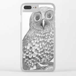 Little Morepork Owl Clear iPhone Case