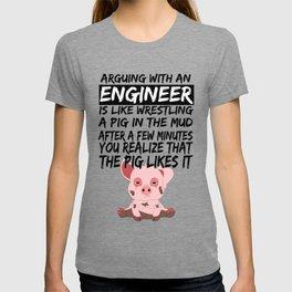Civil Engineer Sarcastic Sarcasm Pig Piglets T-shirt