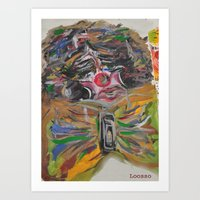 clown Art Prints featuring CLOWN  by Loosso