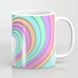 Pastel Heart Coffee Mug
