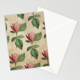Vintage Watercolor Tulip in Pink Stationery Cards