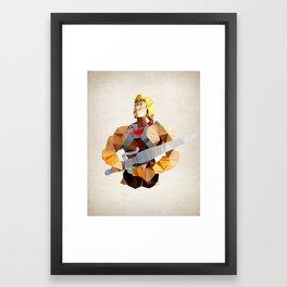 Polygon Heroes - He-Man Framed Art Print