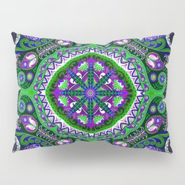 Boho Kaleidoscope Floral Pattern Var. 4 Pillow Sham
