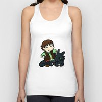 hiccup Tank Tops featuring Chibi Hiccup and Toothless by Gio Garcia
