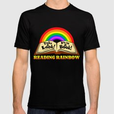 READING RAINBOW Black 2X-LARGE Mens Fitted Tee