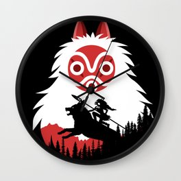 Spirit Mask Wall Clock