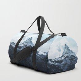 Cold peak landscape Duffle Bag