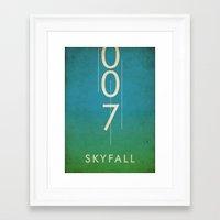 skyfall Framed Art Prints featuring skyfall by alex lodermeier