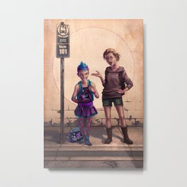 The First Day of School Metal Print
