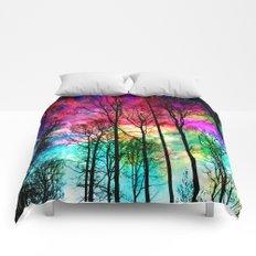 Colorful sky Comforters