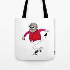 On how to overcome certain obstacles while skateboarding Tote Bag