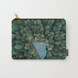 Hidden Lake in a Forest - Landscape Photography Carry-All Pouch