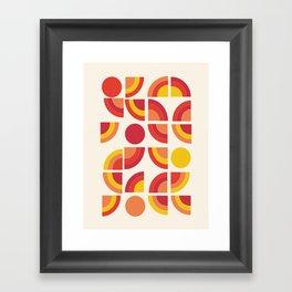 Boogie - abstract retro minimalist 70s 1970s style pattern art 70's 1970's Framed Art Print