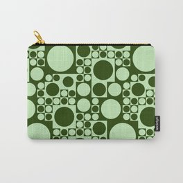 Green circles seamless background Carry-All Pouch